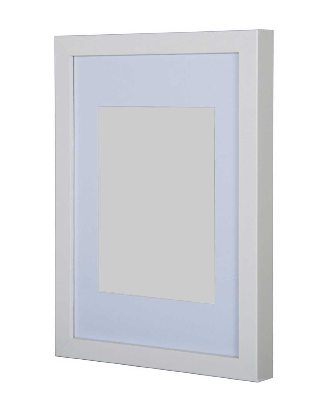 A2 White Frame Gallery Wooden Picture Frame White A1 With A2 Mount